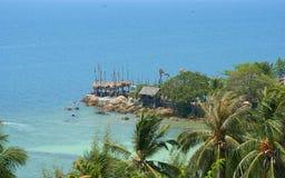 Kust för Thailand öfartyg royaltyfri bild