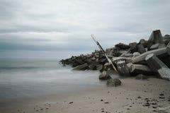 kust- förstört för bunker Royaltyfri Bild