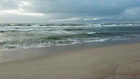 Kust f?r baltiskt hav p? v?ren stock video