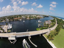 Kust- flyg- sikt av Florida Arkivfoto