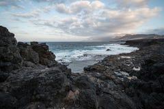 kust fuerteventura Arkivbilder