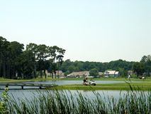 Kust golfcursus Royalty-vrije Stock Foto
