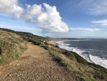 Kust het Lopen Weg op Punt Reyes National Seashore in Californië royalty-vrije stock afbeelding