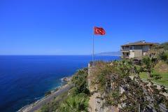 Kust i Alanya, Turkiet Arkivfoto