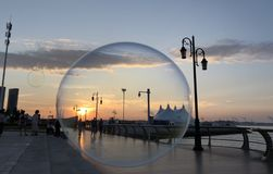 Kust i bubblor royaltyfri fotografi