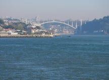 Kust i Porto, Portugal Arkivfoto
