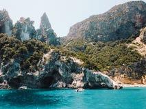 Kust i Sardinia, Italien Arkivbild