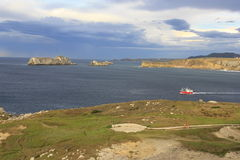 Kust i Suances, Santander Cantabria Arkivbilder