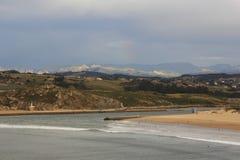 Kust i Suances, Santander Cantabria Arkivfoto