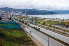 Kust i Trabzon Arkivfoto