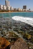 kust- israel för slagträstad driftstopp Arkivbild