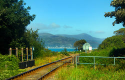 Kust- järnväg royaltyfri foto