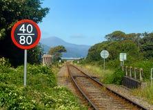 Kust- järnväg royaltyfria bilder