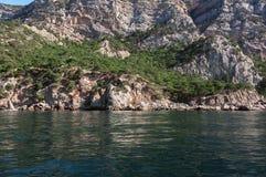Kust- klippor Fotografering för Bildbyråer