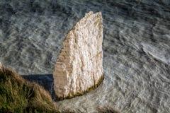 Kust- kritahavsbunt nära gamla Harry Rocks, Swanage, Dorset, UK arkivbilder
