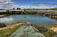 Kust landschap Stock Foto's