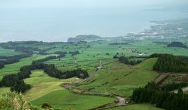Kust landschap in de Azoren royalty-vrije stock foto