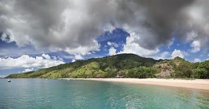 Kust landschap, eiland Komodo (Indonesië) Stock Fotografie