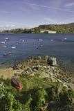 Kust- landskap av Ferrol royaltyfri bild