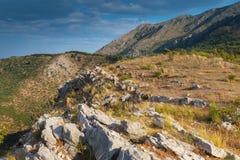 Kust- landskap för Adriatiskt hav Royaltyfri Foto
