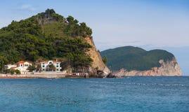 Kust- landskap för Adriatiskt hav. Montenegro Royaltyfri Bild