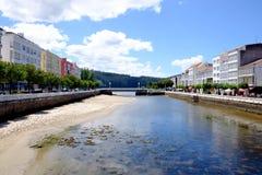 Kust- landskap i byn av Cedeira Arkivbild