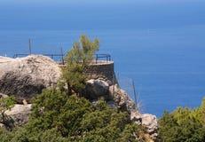 Kust- landskap i västra Mallorca Arkivbilder