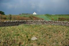 Kust- landskap, nära Eyemouth, Northumberland och skottegränser Arkivfoton