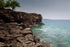 Kust- landskap på den stora ön Arkivfoton
