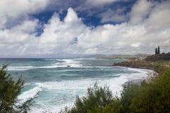 Kust- landskap på Kauai Arkivbilder