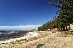 Kust- landskap på golfSt Vincent Arkivbilder
