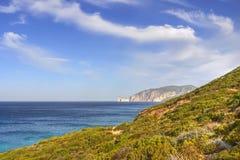 Kust- landskap Sardinia Fotografering för Bildbyråer