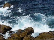 Kust- landskapsikt från klippan arkivfoton