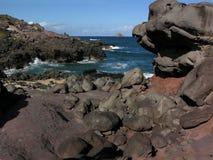kust- lava royaltyfria bilder