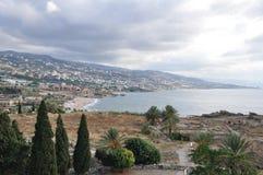 kust lebanon Royaltyfri Foto