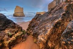 kust- liggande för klippa Royaltyfria Bilder