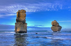kust- liggande för klippa Fotografering för Bildbyråer