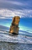 kust- liggande för klippa Royaltyfria Foton