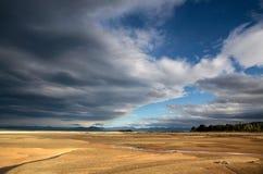 Kust- liggande i den Abel Tasman nationalparken Royaltyfri Fotografi