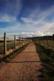 kust- lone norr banafotgängare yorkshire royaltyfria foton