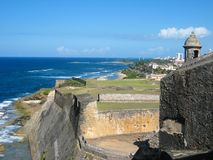 Kust Mening van Castillo DE San Cristà ³ bal Royalty-vrije Stock Afbeelding