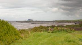 Kust nära Hinkley punkt Somerset Royaltyfri Bild