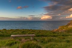 Kust nära Mwnt, Ceredigion, Wales, UK Royaltyfri Bild