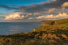 Kust nära Mwnt, Ceredigion, Wales, UK Royaltyfria Bilder