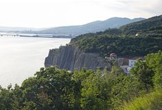 Kust nära Novorossiysk Arkivfoto