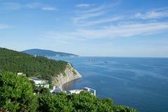 Kust nära Novorossiysk Royaltyfri Bild