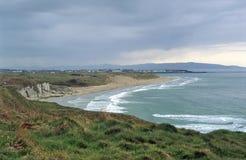 kust nordliga ireland Arkivfoton