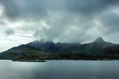 kust nordliga norway Royaltyfria Bilder