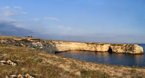 Kust- område på Crimea, Ukraina. fotografering för bildbyråer