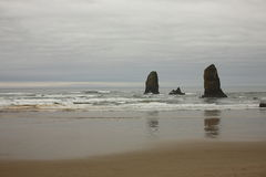 kust oregon Royaltyfria Bilder